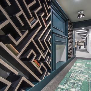 LinkedIn Omaha Maze Bookcase