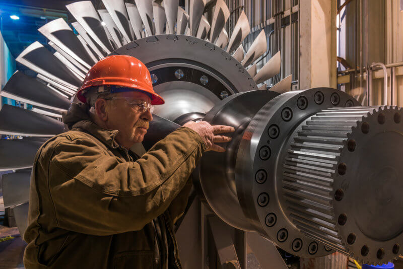 PGE Beaver Generating Plant Turbine Installation Inspection - Architectural Industrial Photography