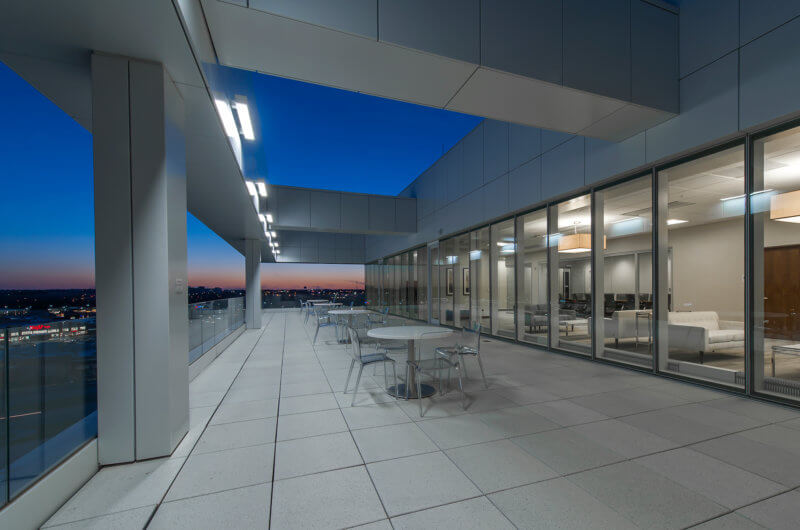 SAC Federal Credit Union Patio - Architectural Institutional Photography