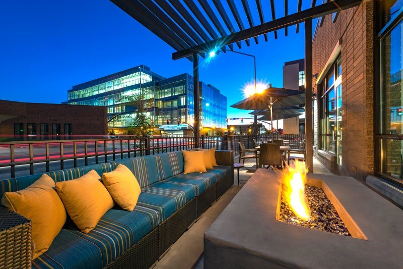 Outdoor Patio | Hyatt Place Provo - Architectural Hotel Photography