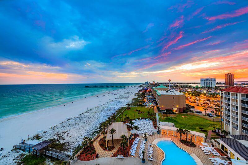 Hilton Pensacola - Architectural Aerial Photography