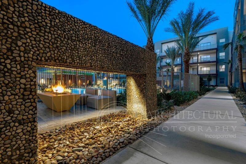 Poolside waterfall | Kaktus Life Apartments